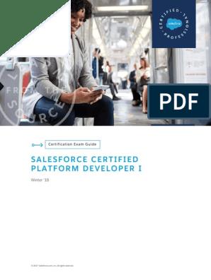 SGCertifiedPlatformDeveloperI pdf | Salesforce Com | Model