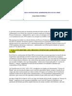 El Proceso Contencioso Administrativo en El Perú