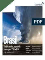 Credit Suisse Cenarios Brasil 2018