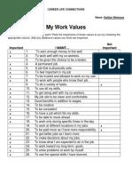 my work values
