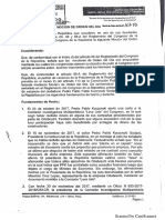 Presentan pedido de vacancia presidencial contra PPK en el Congreso