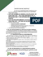 Constitucion de Asojuntas
