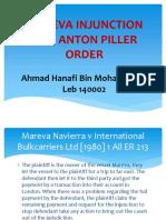 Mareva Injunction and Anton Piller Order