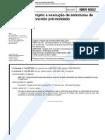 NBR 9062 NB 949 - Projeto e execucao de estruturas de concreto pre-moldado.pdf
