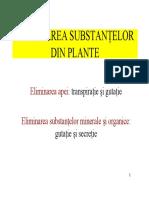 Eliminarea Substantelor Din Plante