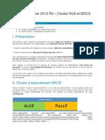 Windows Server 2012 R2 – Cluster NLB et MSCS.docx