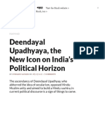 Deendayal Upadhyaya, The New Icon on India's Political Horizon