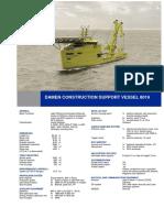 Construction Support Vessel 8019 DS
