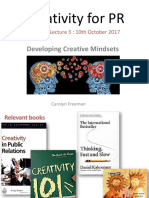 Lecture 5 Developing Creative Mindsets