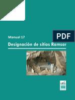 Designacion de Sitios Ramsar
