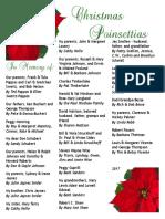 2017 Poinsettia Dedications Booklet
