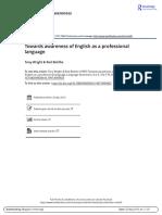 Towards Awareness of English as a Professional Language