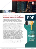 Update datacenter technology to consolidate and save on virtualization