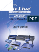AirLive WN-5000R Manual