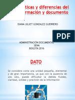 Caracteristicas y Diferencias Del Dato,Informacion y Documento