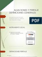 1.- Valuaciones y Peritaje DEFINICIONES GENERALES