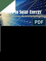 intro to solar energy