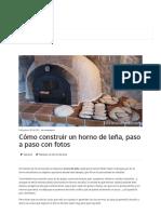 Cómo Construir Un Horno de Leña, Paso a Paso Con Fotos – Cocina Salud