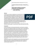 Does Artificial Neural Network Support Connectivism Assumptions