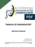 Manual de Organización Servicios Publicos