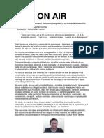 On AIR - Cesar Manuel Chaponan Damian