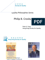 The Quality Philosophy of Philip Crosby