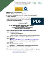 Programacao PIBID Letras Espanhol