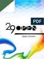 Bases Open Juan XXIII 2018