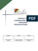 Manual de Elaboracion de Proforma Presupuestaria