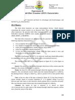 EXP10 JFET Transistor Characteristics