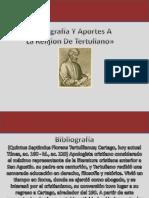 Bibliografía Y Aportes A  La Relijion De Tertuliano