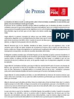 NOTA de PRENSA 2010. Respuesta Bastidas Auditorio ( E. Alborch)