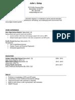 julies resume