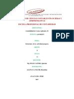 Facultas de Ciencias Contables Financieras y Administrativas Costos