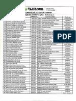 Lista de Aptos e Inaptos