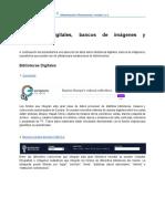 Bibliotecas Digitales, Bancos de Imágenes y Repositorios Institucionales
