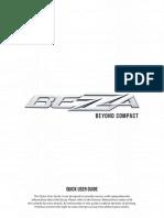 Perodua Bezza Quick User Guide