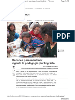 Razones para mantener vigente la pedagogía plurilingüista