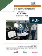 Programa de Cursos Teóricos CTSol Lima I Semestre 2016