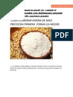 manual de Harina de Maiz Precocida