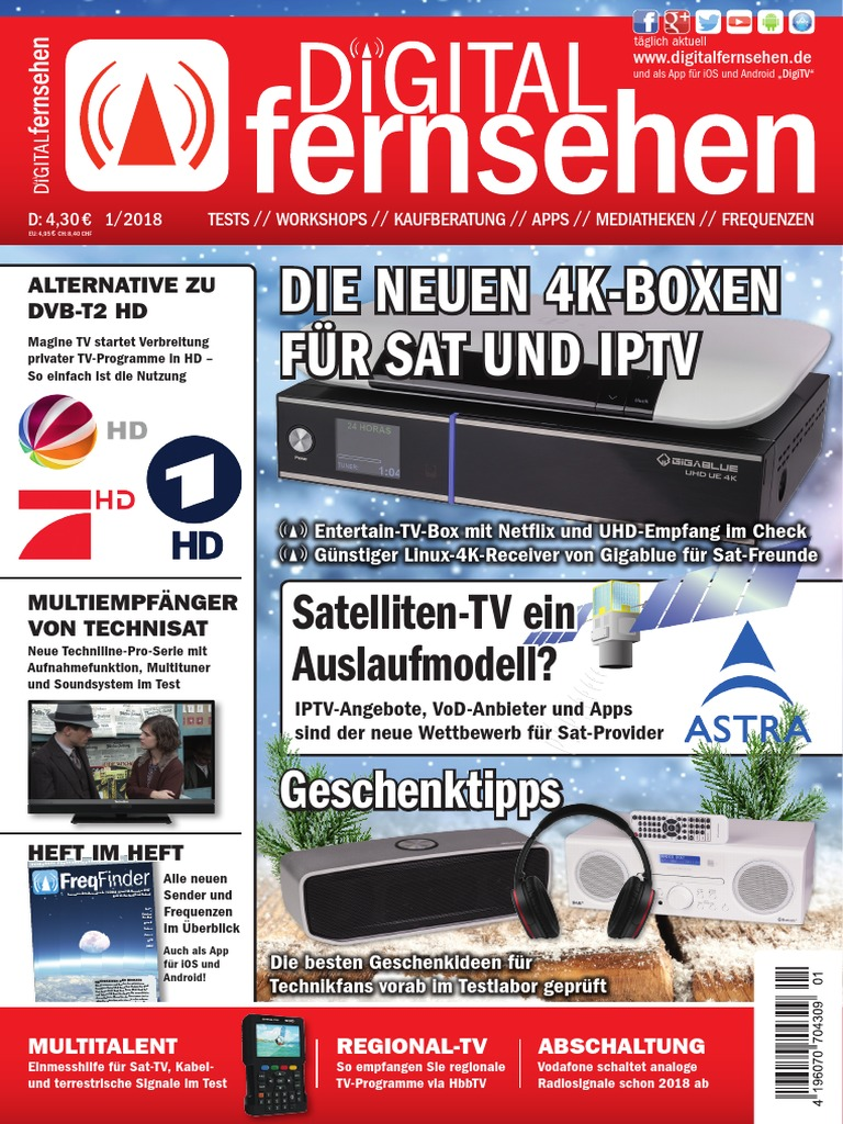 3c714a7073b5be Digital Fernsehen Januar 2018 | Cable Television | Television Technology