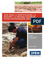Guía Para La Identificación, La Gestión y La Rehabilatación de Sitios Contaminados Con Mercurio