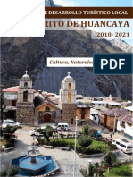 Plan de desarrollo turístico distrital Huancaya