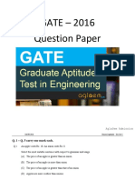 GATE 2016 Question Papers for EC - S4