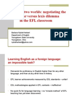 The best of two worlds-negotiating the grammar versus lexis dilemma in the EFL classroom