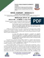 EXPERT - MÓD I - AULA 02 - Bibliologia - A Bíblia e Suas Traduções