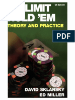 No Limit Hold 'Em Theory and Practice (David Sklansky, Ed Miller )