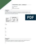 Administracion Financiera - Quiz 2 - Semana 7