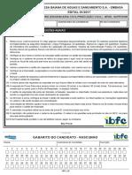 Ibfc 2017 Embasa Engenheiro Engenharia Civil Producao Civil Prova