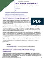 12 Using Automatic Storage Management